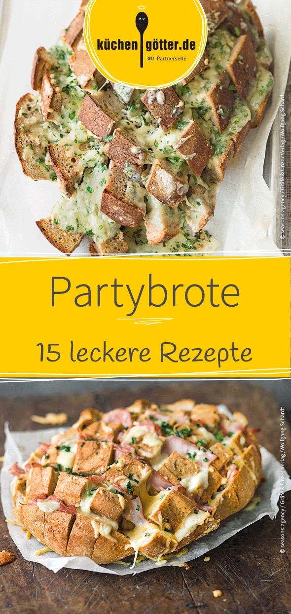 27 leckere Partybrote und -brötchen