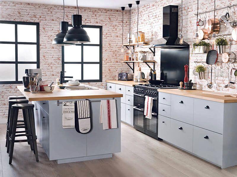 Cucina vintage industriale industriale nel
