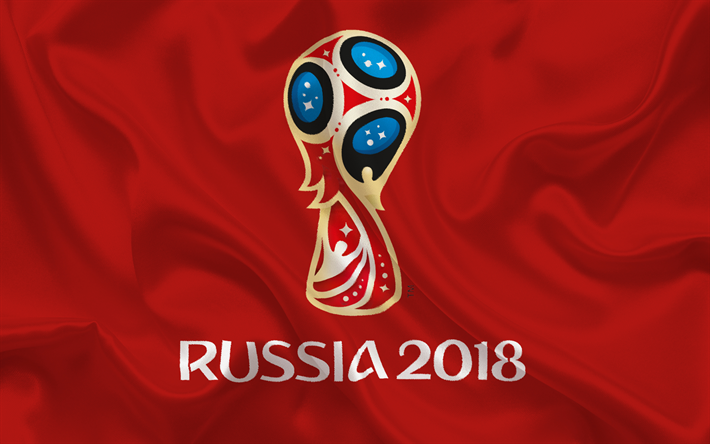 Download Wallpapers Russia 2018 Logo Football World Championship