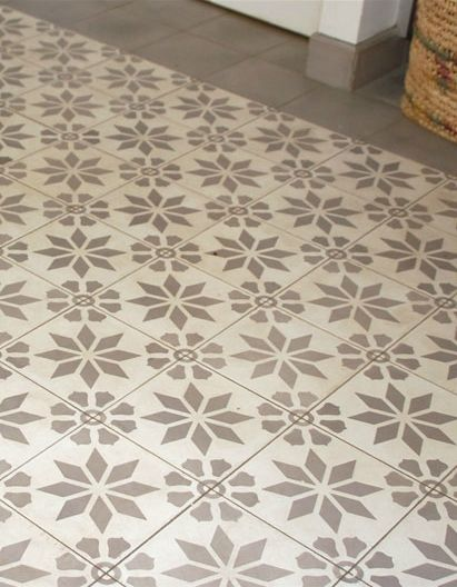 Carrelage imitation carreaux de ciment travaux maison pinterest imitati - Carrelage facon carreaux de ciment ...