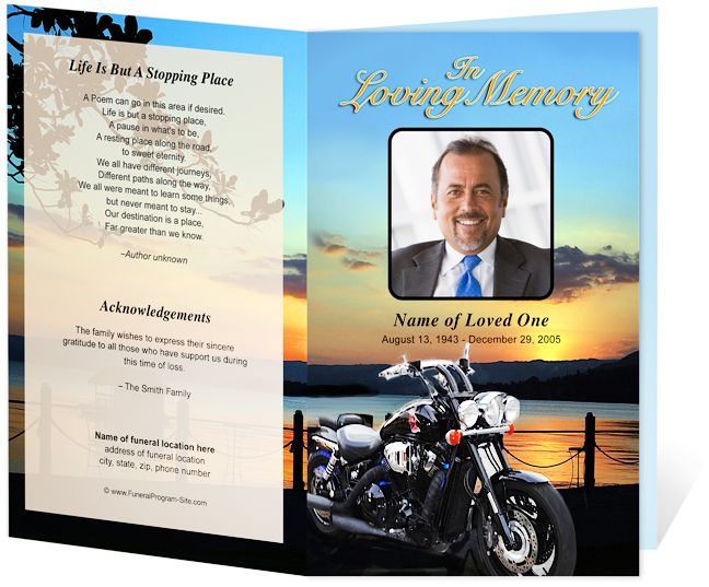 Sports Hobbies Career  Motorcycle Preprinted Title Letter