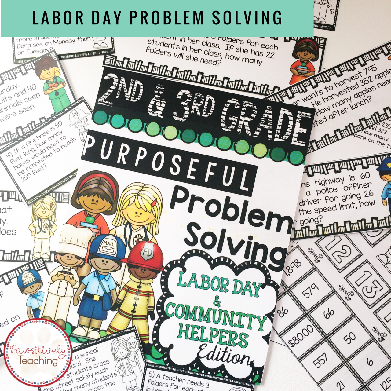 2nd Amp 3rd Grade Problem Solving Labor Day Community