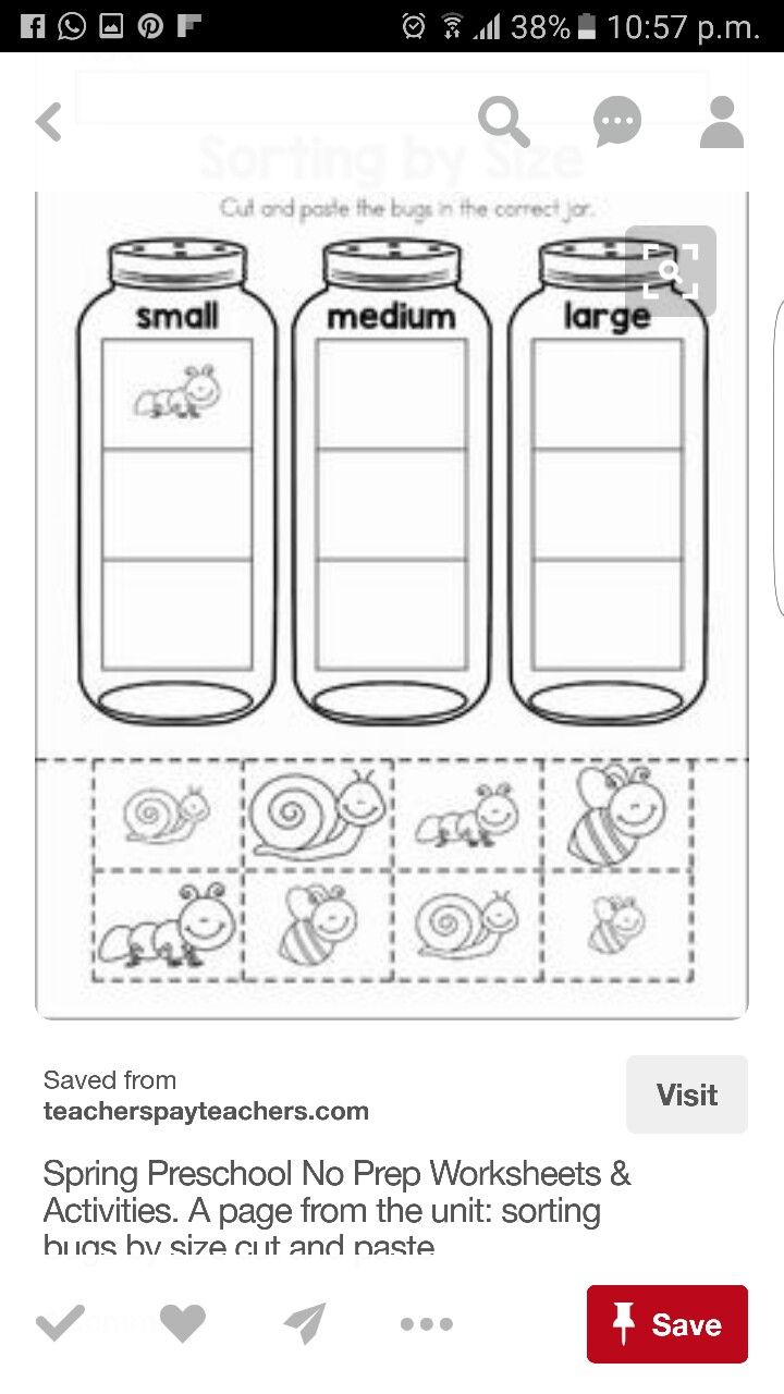 pin by ummathul yaseen on sorting by size preschool preschool worksheets preschool math. Black Bedroom Furniture Sets. Home Design Ideas