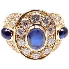 Van Cleef  Arpels Sapphire Diamond Yellow Gold Ring