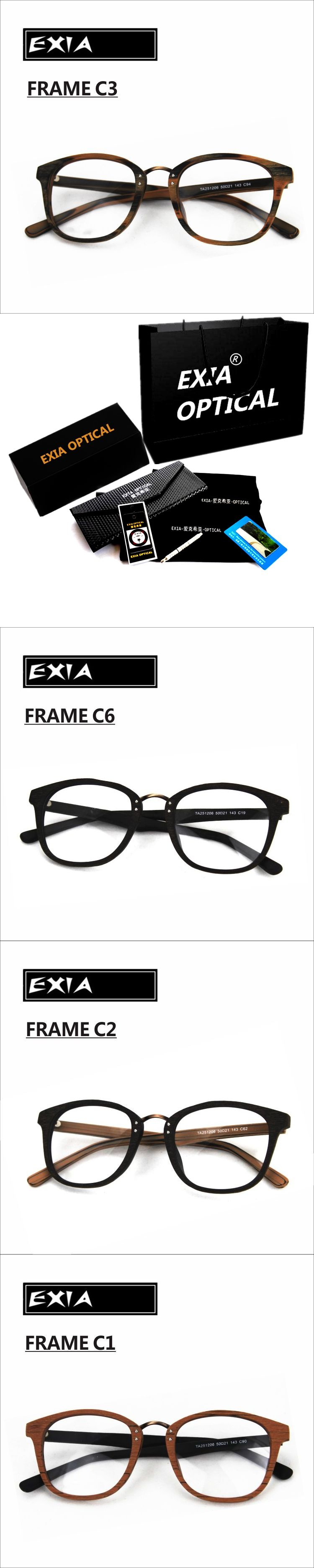 81b98c56dcf Ophthalmic Eyeglasses Frames Acetate Top Quality Spectacle RX Lenses  Available EXIA OPTICAL KD-38 Series