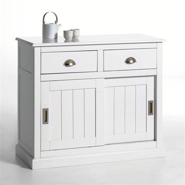 Image buffet 2 portes 2 tiroirs pin massif inqaluit la redoute interieurs - La redoute petit meuble de rangement ...