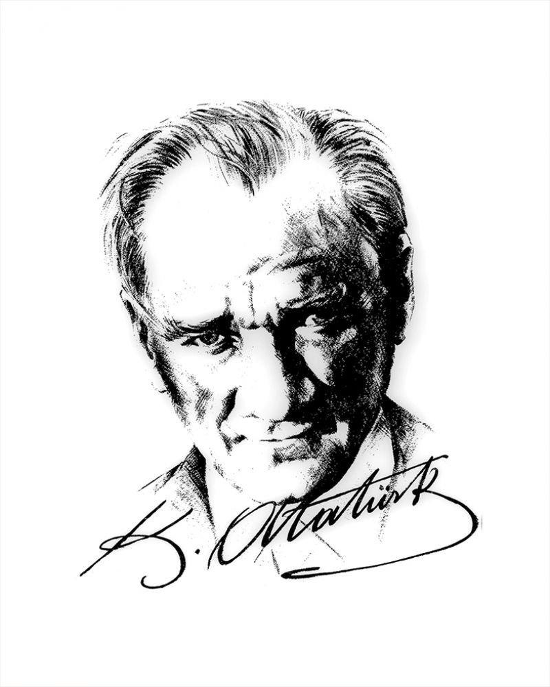Mustafa Kemal Ataturk Portre 5 Kanvas Tablo Portre Resim Poertre Resimleri