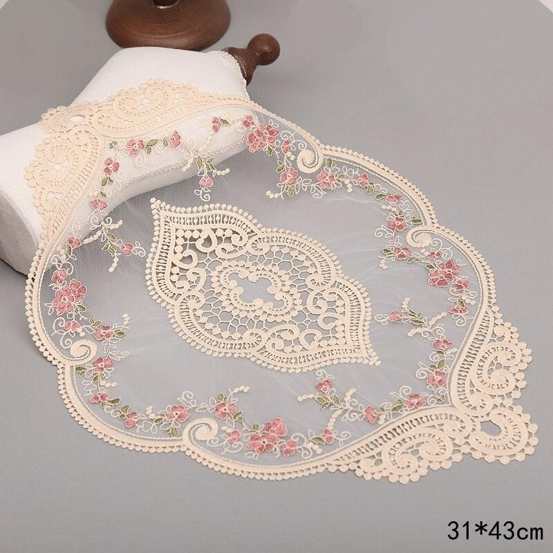 Photo of 1Pcs For Dining Table Embroidery Craft Placemat European Style Lace Insulation Plate Mat Anti-scald Coaster Table Pads – B8 / PCS