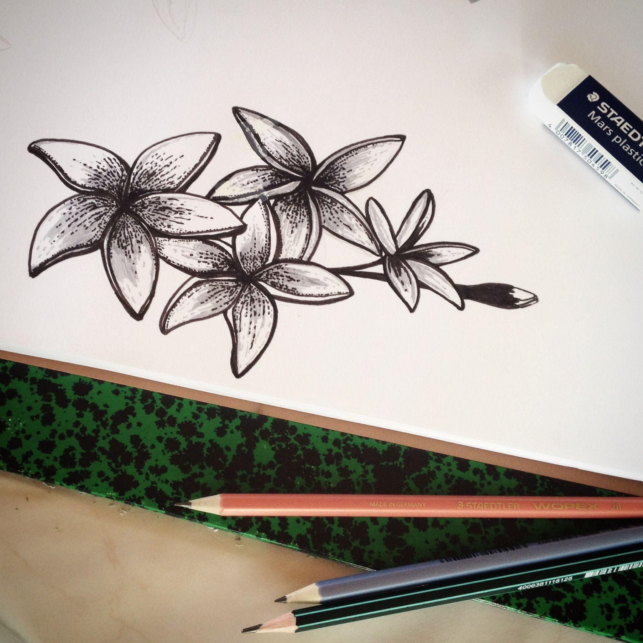 Fleurs De Tiare Tattoo Drawings Tattoos Flower Tattoos