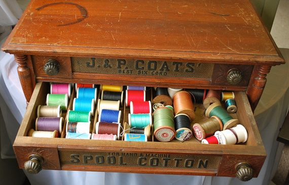 J and P Coats Spool Cabinet by NewPhind on Etsy, $475.00