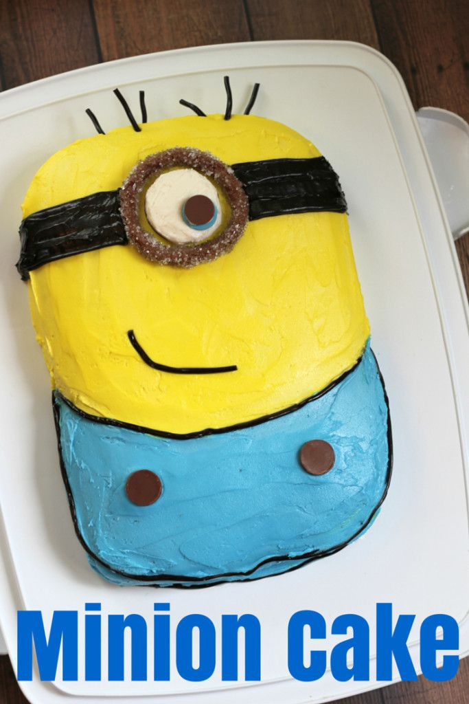 Astonishing How To Make A Minion Cake With Images Minion Birthday Cake Personalised Birthday Cards Paralily Jamesorg