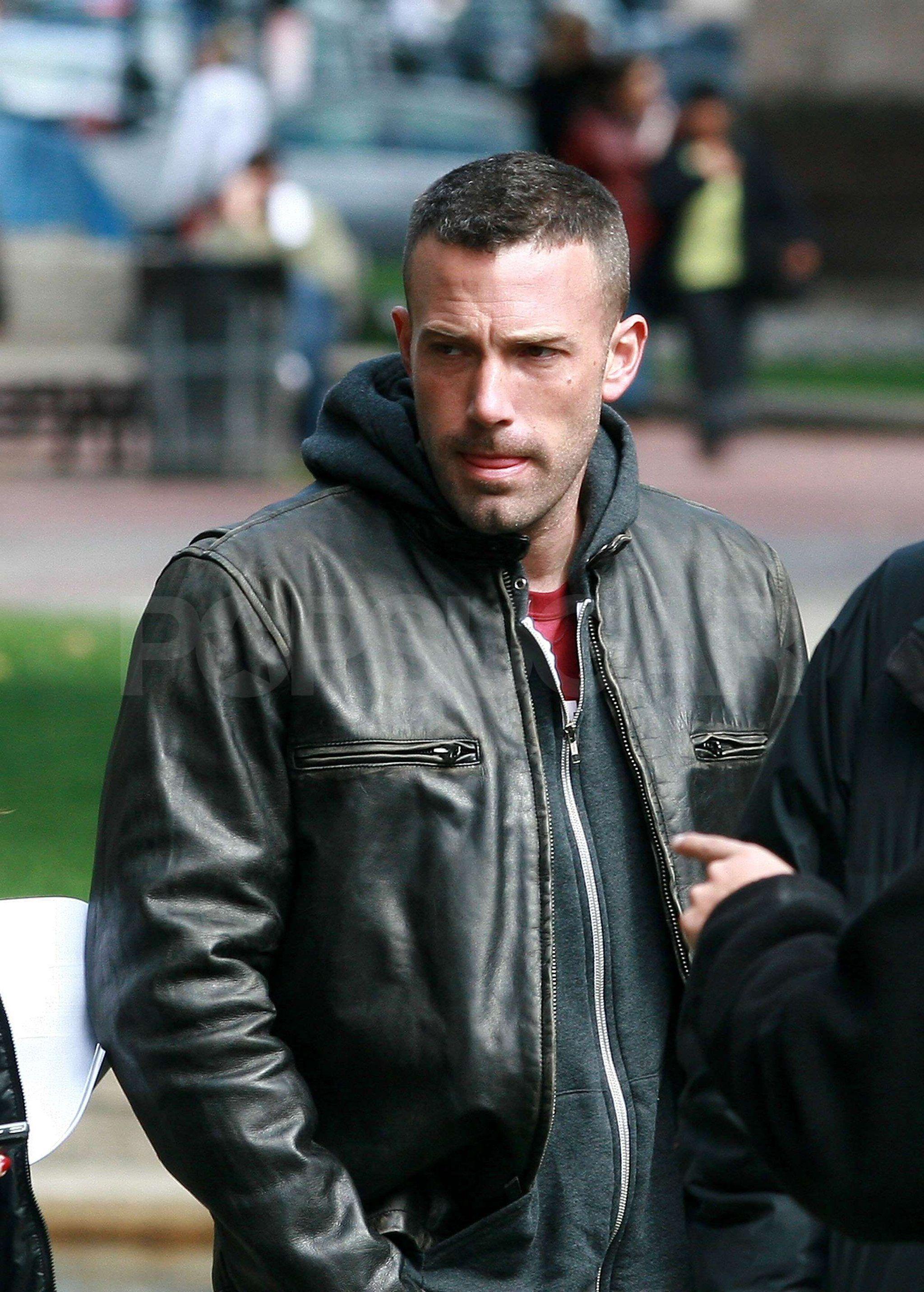 Bundles Up In Town Ben Affleck Leather Jacket | Ben ...