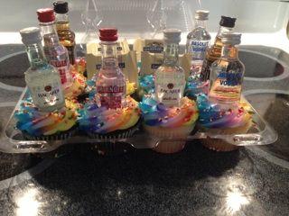 Tipsy cupcakes!