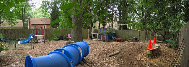 A panorama of our playground | School playground ...