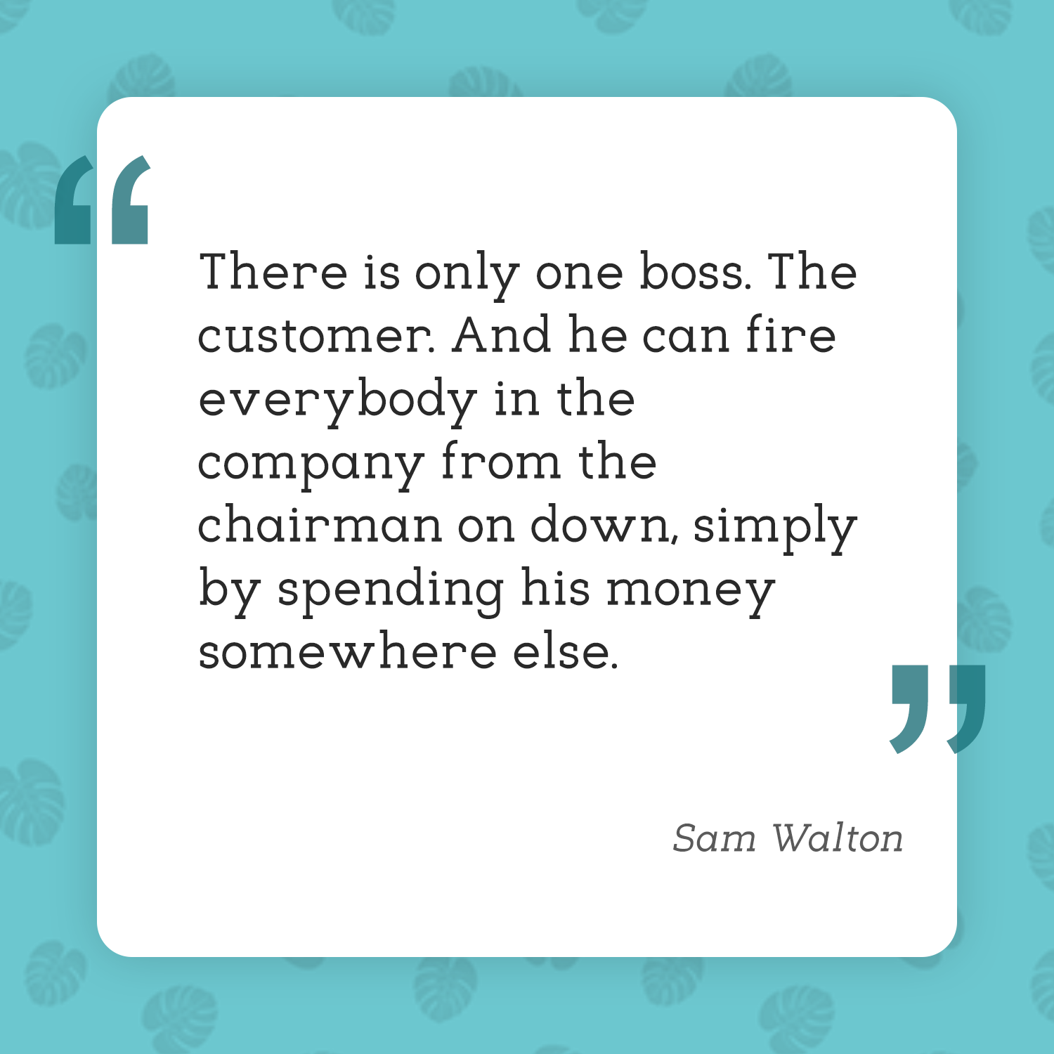 Customer satisfaction shouldn't just be... Inventory