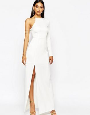 Missguided Thigh High Split Maxi Dress | Missguided, Thighs and Maxi ...