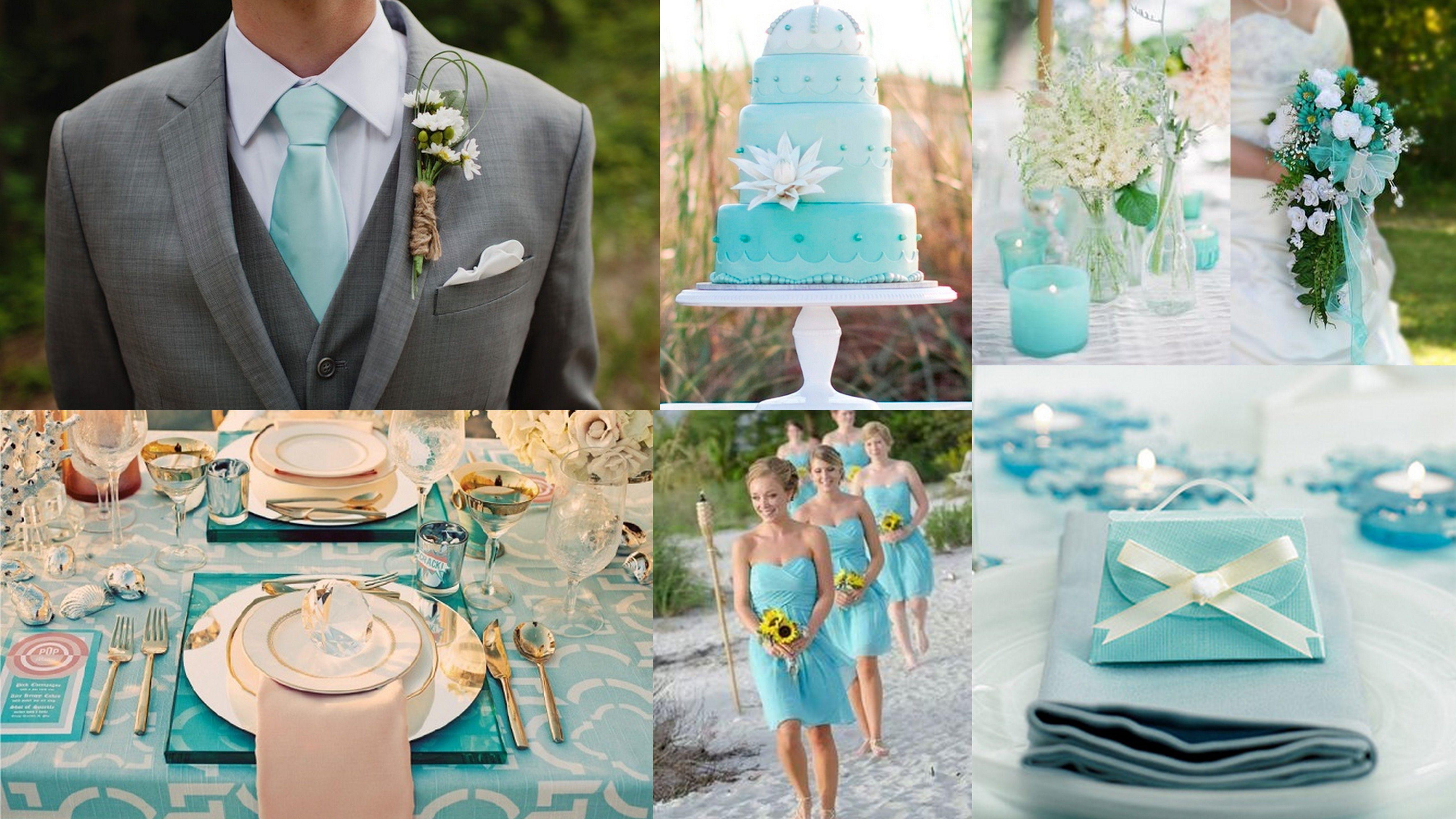 Aquamarine Beach Wedding Theme