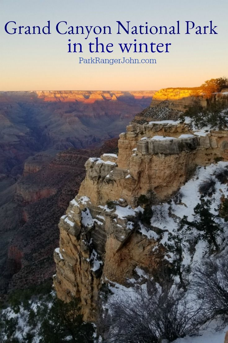 Visiting the Grand Canyon in Winter! What to expect, what you can do in the park during your trip!  Check out our winter pictures from our vacation to the Grand Canyon National Park in Arizona.   #NationalPark #grandcanyon #findyourpark  via @ParkRangerJohn #grandcanyon