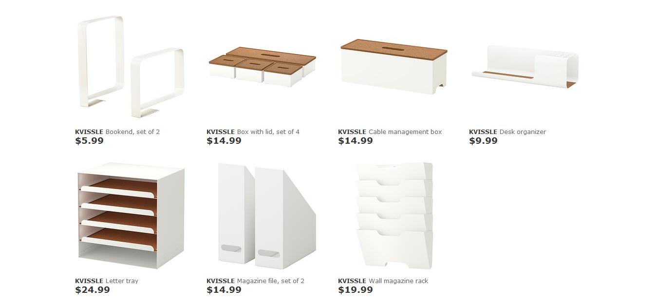 Kvissle Series Ikea Perfect Desk Organizers