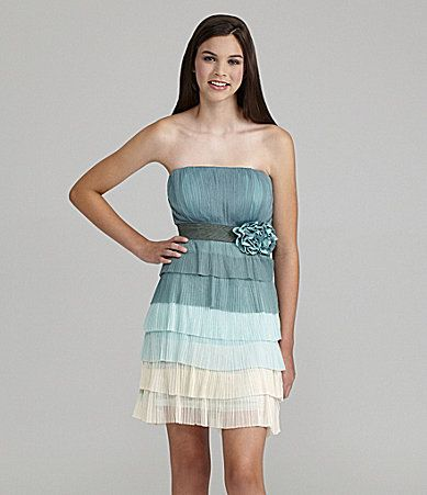 Ina Tiered Strapless Dress Dillards Weddings And