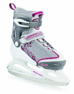 Rollerblade Bladerunner Women's Micro Ice Recreational Adjustable Junior Skate (2 - 5, Silver/Pink)