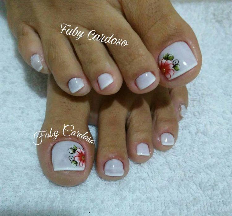 Artesanato Ponta Negra ~ Unhas dos pés decoradas Unhas Pinterest Unha, Unhas
