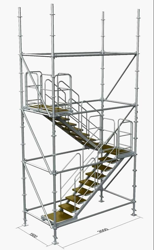 Convenient Ring Lock Scaffolding Stair Towers With Good Bearing For Sale    Scaffolding Stair Towers