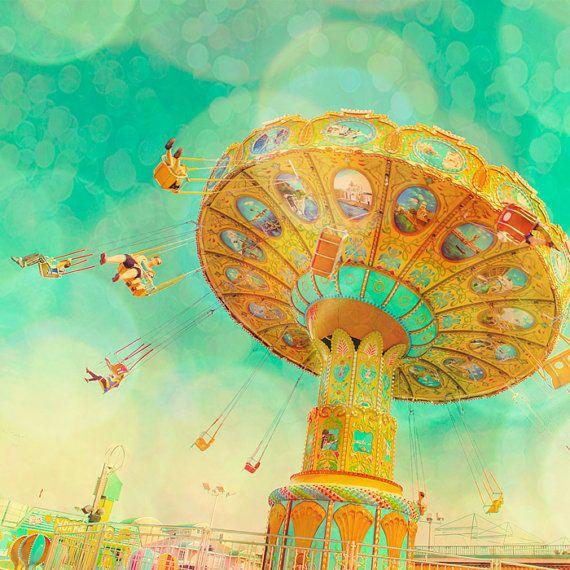 Carnival photography, nursery decor, kids room decor, turquoise ...