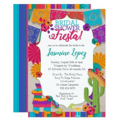 Bridal Shower Fiesta Invitation Zazzle Invitations