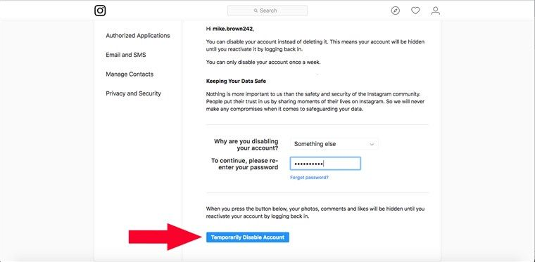 Here S How To Deactivate Or Permanently Delete Your Instagram Account How To Delete Instagram Deactivate Instagram Delete Instagram