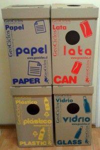 cajas para reciclar