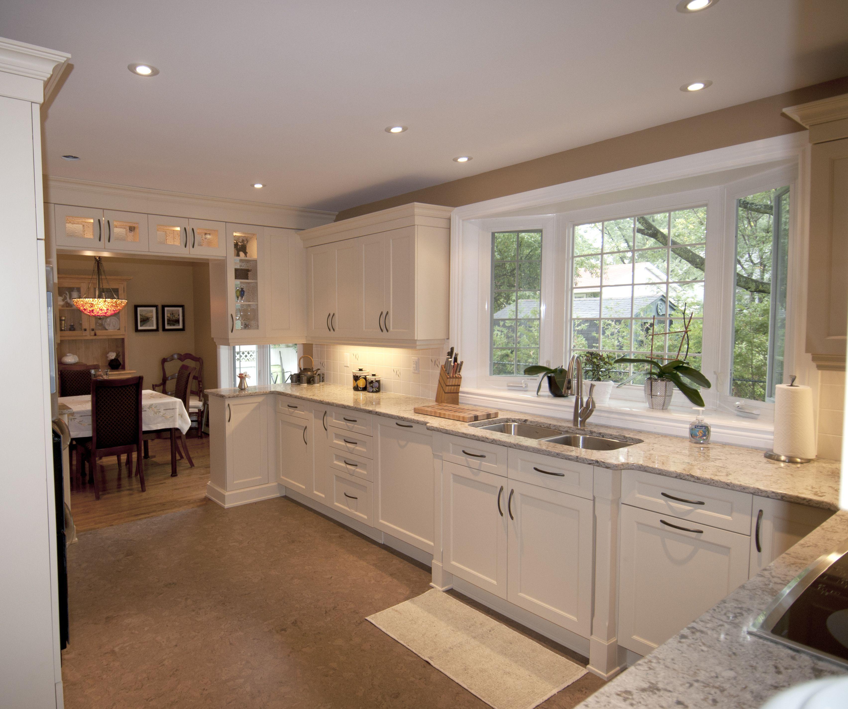 Kitchen Craft Lexington Maple Cabinets, Chamomile Lacquer, Cambria Quartz  Countertops, Cork Flooring