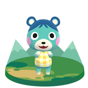 Animal Crossing Pocket Camp Bluebear In 2020 Animal Crossing Characters Animal Crossing Villagers Animal Crossing