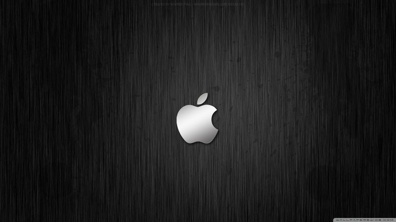 Metal Apple HD Desktop Wallpaper : Widescreen : High