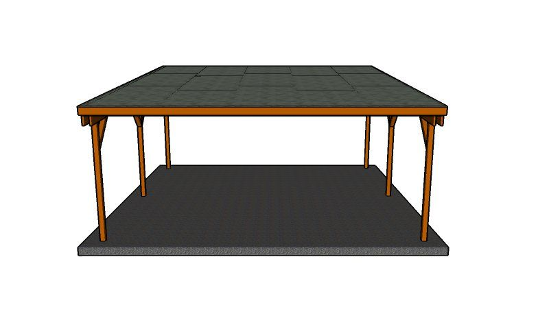 Flat Roof Double Carport Plans Howtospecialist How To Build Step By Step Diy Plans Carport Plans Double Carport Carport