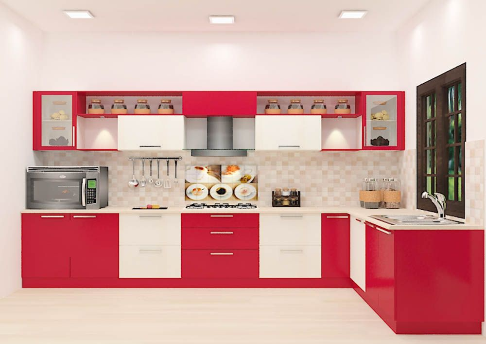 Buy Savate L Shaped Kitchen With Laminate Finish Online In