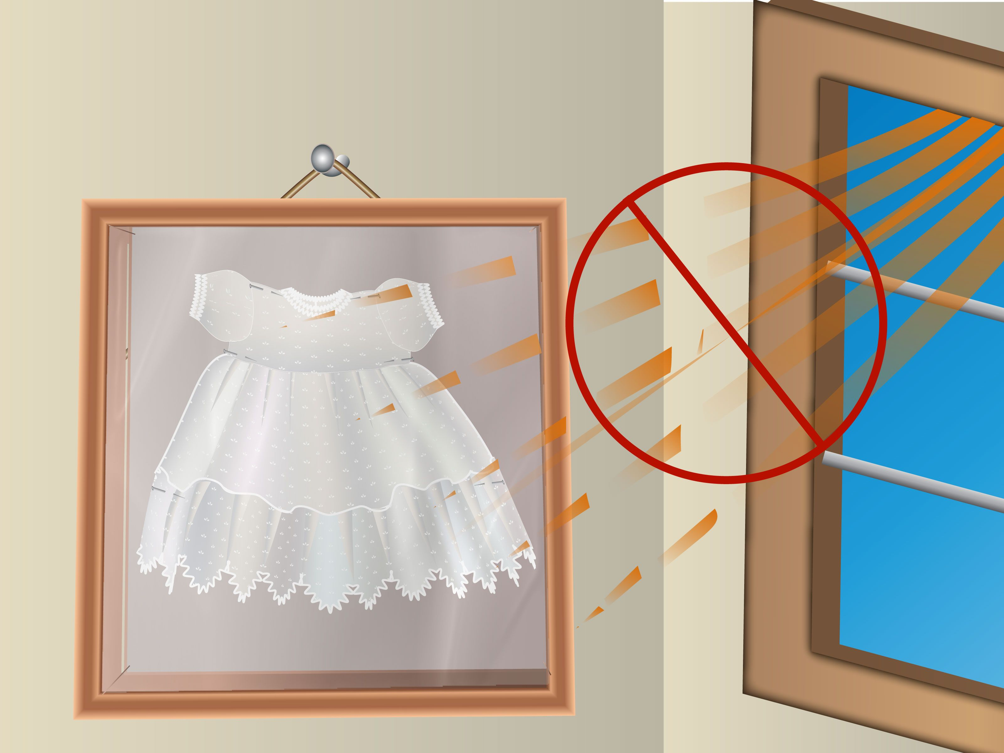 How to Frame Baby Clothes -- via wikiHow.com