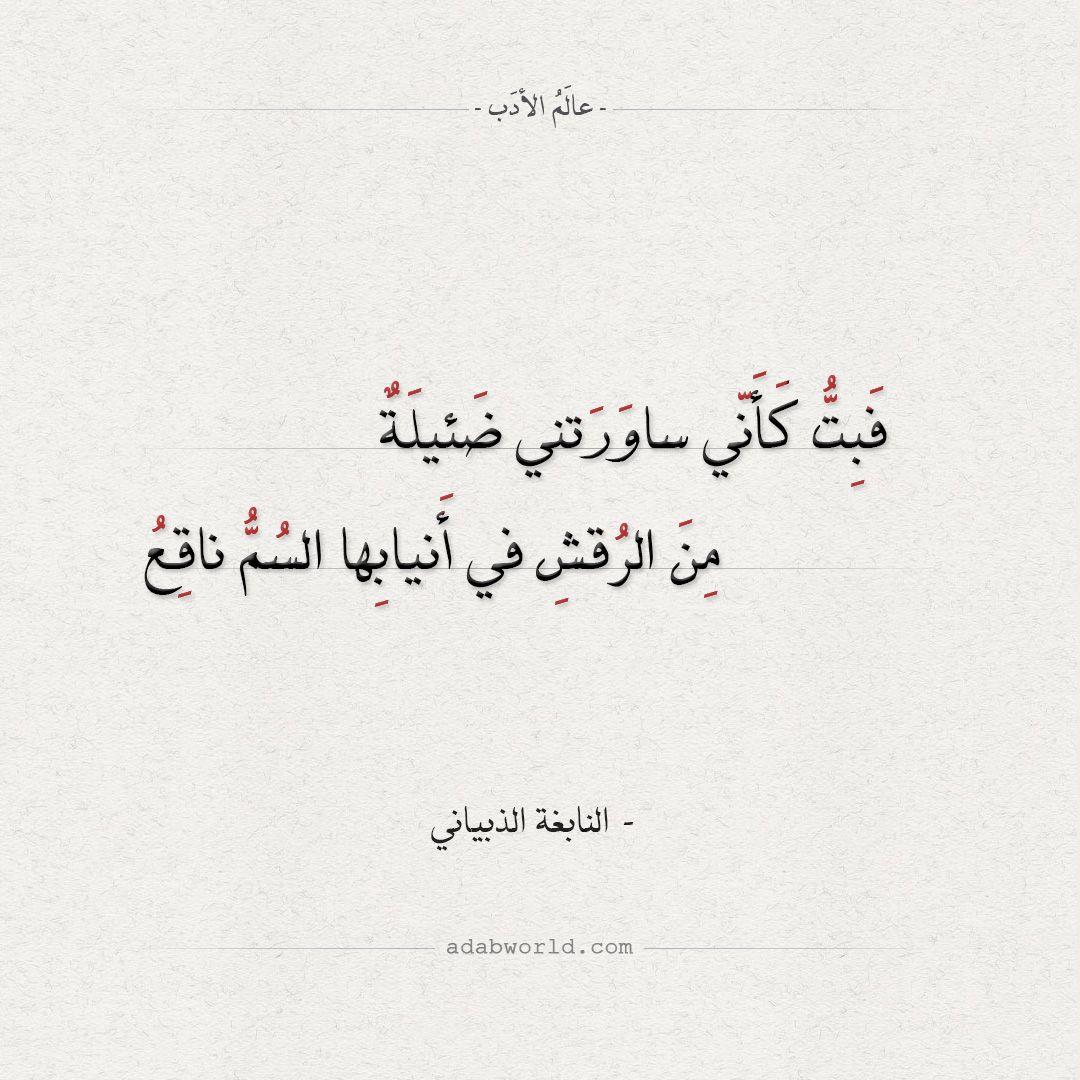 من اجمل ابيات الشعر الجاهلي النابغة الذبياني عالم الأدب Islamic Quotes Quotes Arabic Calligraphy