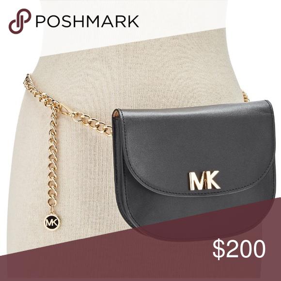 1c8c92f55123 Spotted while shopping on Poshmark: MICHAEL KORS MK BLACK TURNLOCK FANNY  PACK! #poshmark #fashion #shopping #style #MICHAEL Michael Kors #Handbags