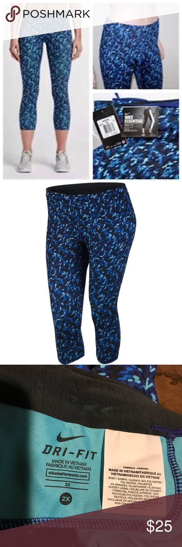 f4054fe75f NWT Nike Women s Dri-Fit Cropped Running Tights Brand new with tags! Nike
