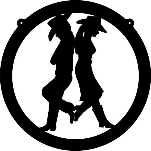 Cowboy And Cowgirl Ornament Stencils Country Wedding