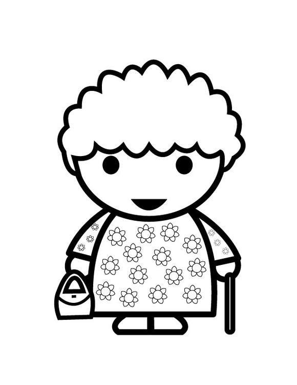 Kleurplaten Thema Familie.Grandmother Thema Familie Grootouders Grootouders Mijn