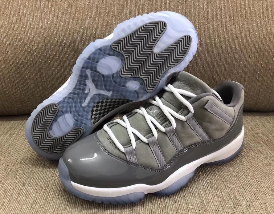 2b9bb304a714 Air Jordan 11 Low Cool Grey Size Run Mens Color  Medium Grey Gunsmoke-White  Style Code  528895-003 Release Date  April 28
