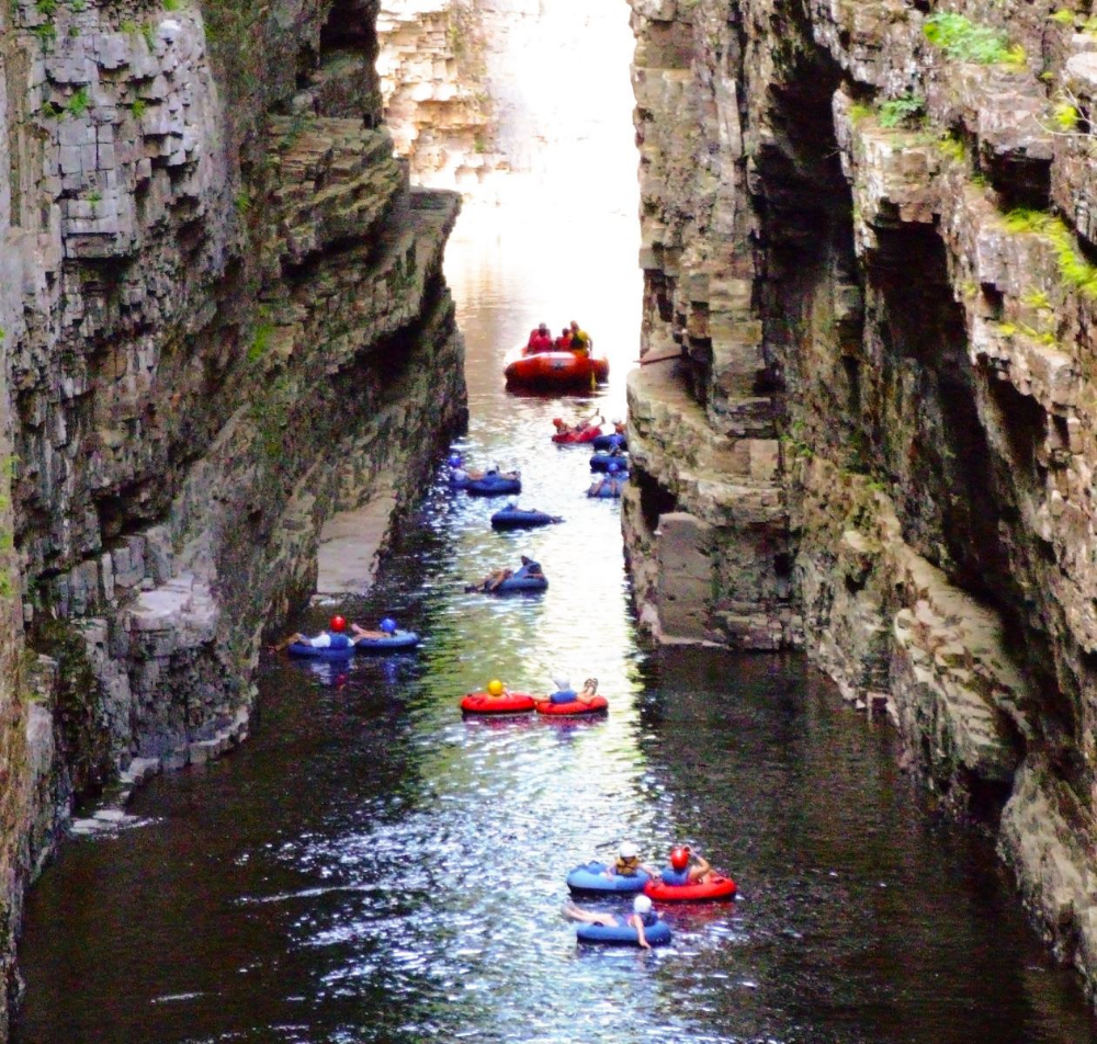 Ausable Chasm River Tubing At Ausable Chasm Try Going Before Noon Tubing River River Float River