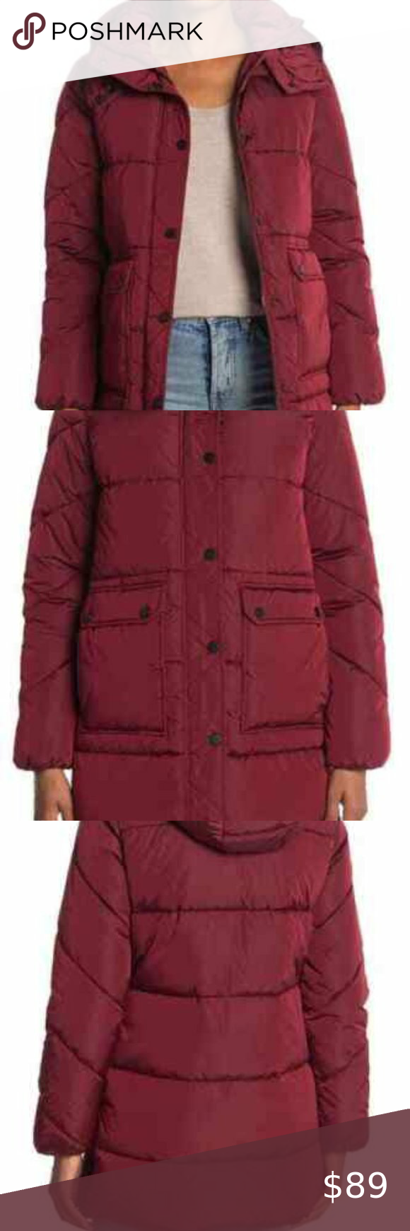 Nwt Lucky Brand Hooded Puffer Jacket Coat Hw9190 Red Puffer Jacket Puffer Jacket Women Olive Green Bomber Jacket [ 1740 x 580 Pixel ]