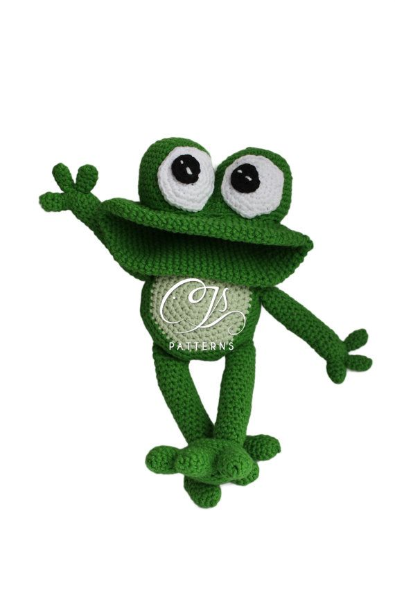 Amigurumi Pattern Frog Stuffed Animal Crochet Pattern   amigurumi ...