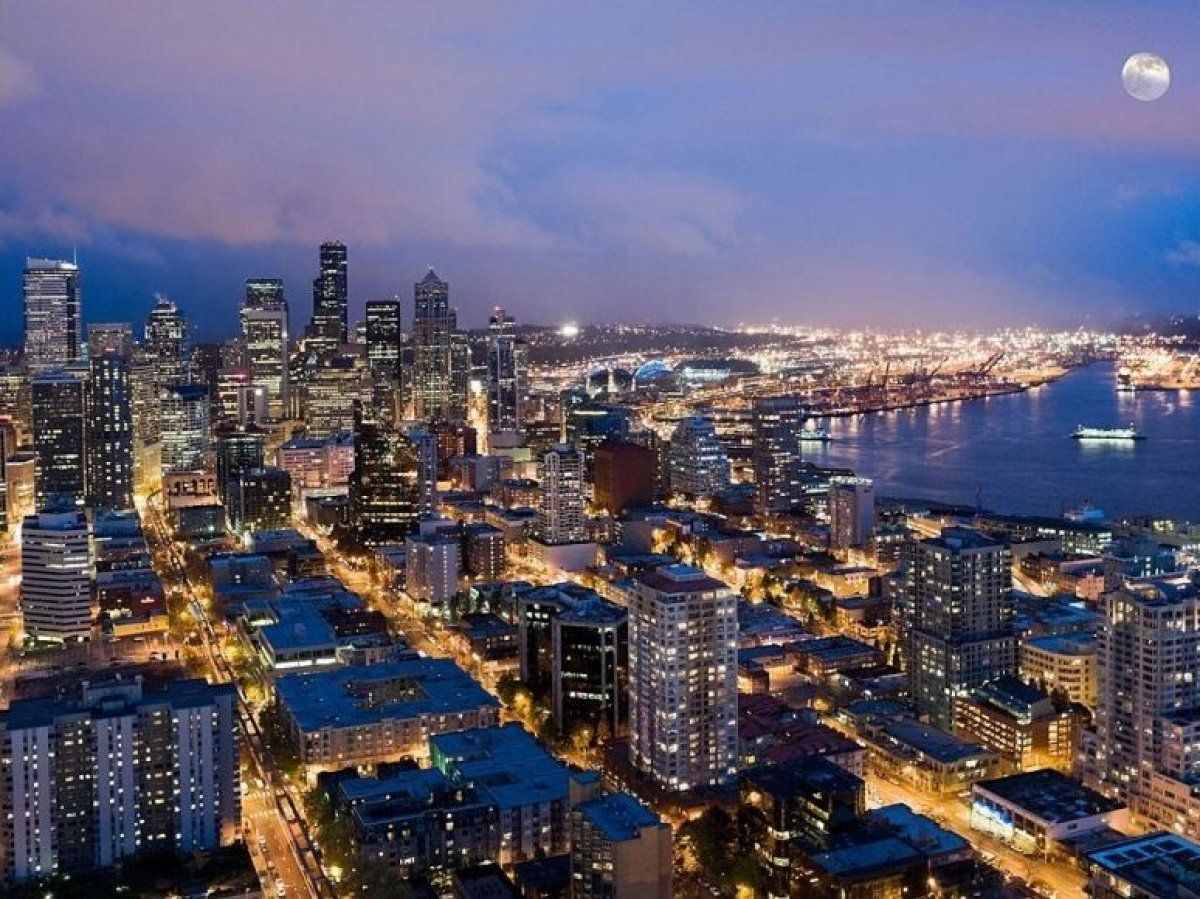 Seattle Aerial View Wonders Of The World Places To Travel