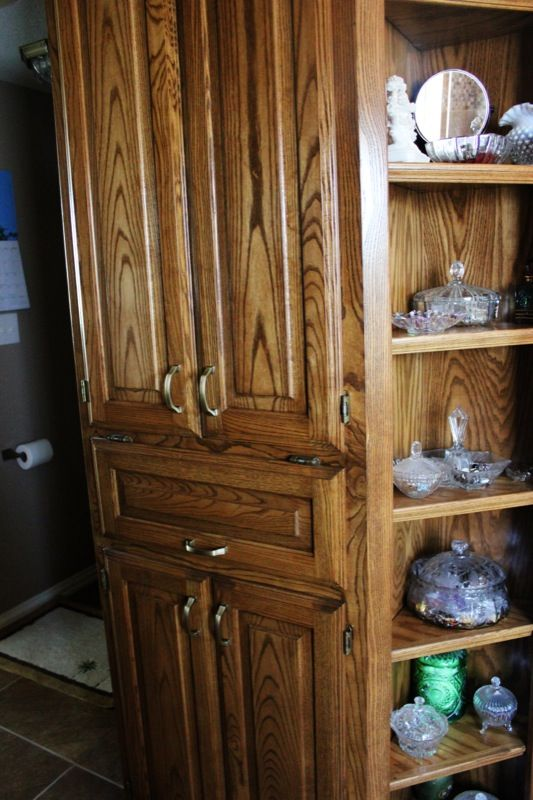 Built Custom Cabinets To Match Style And Wood Grain Of Existing Built In Piece Kraft Building Denton Tx Bath Remodel Custom Cabinets Home Decor