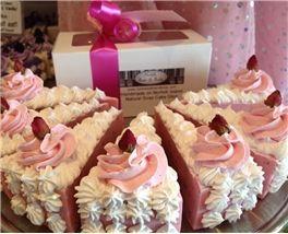 Baby Rose Cake Slice