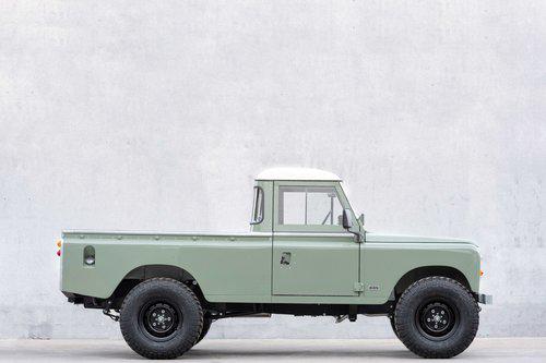 Pastel Green Pick Up Cool Vintage Land Rover Defender Custom Land Rover Pick Up Land Rover Defender